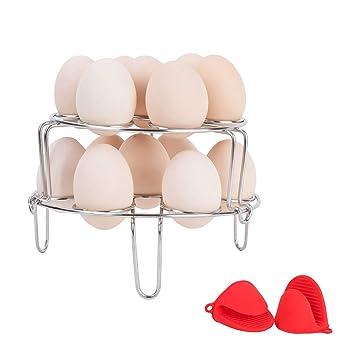 Vencer Deluxe Moderno dispensador de huevos metálico en espiral: Amazon.es: Hogar