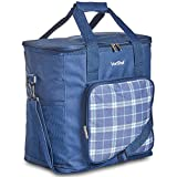 VonShef Geo Picnic Backpacks (Navy Blue Cooler Bag)