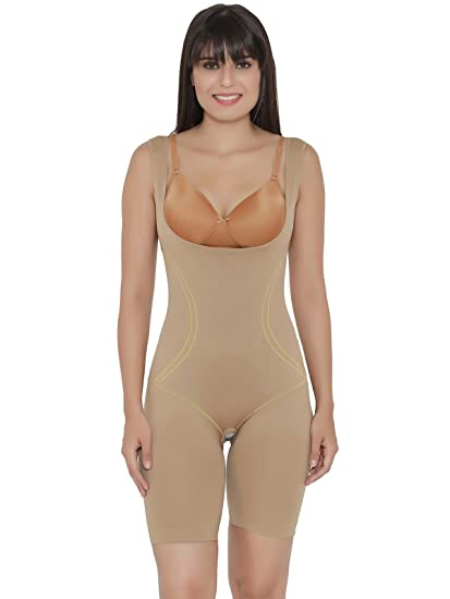 f57d4464e3207 Clovia Women s Nylon Spandex Laser-Cut No-Panty Lines Body Suit (SW0002F24-