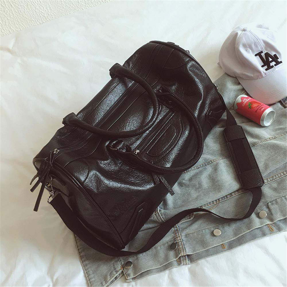 Unisex Overnight Weekend Weekender Travel Bag Faux Leather Waterproof Tassel Holdall Gym Sports Tote Bag Travel Carry On Duffles Bags Luggage Bags Handbag Shoulder Bags Lightweight Carry-on Under Seat