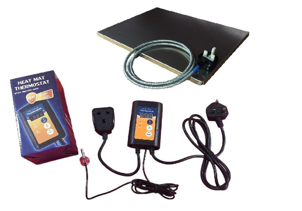 PetnapUK Hedgehog Heating System Heater, Pet Heat Pad, (US Plug Adaptor) External Heat Pad Mat With Thermostat Controller by PetnapUK