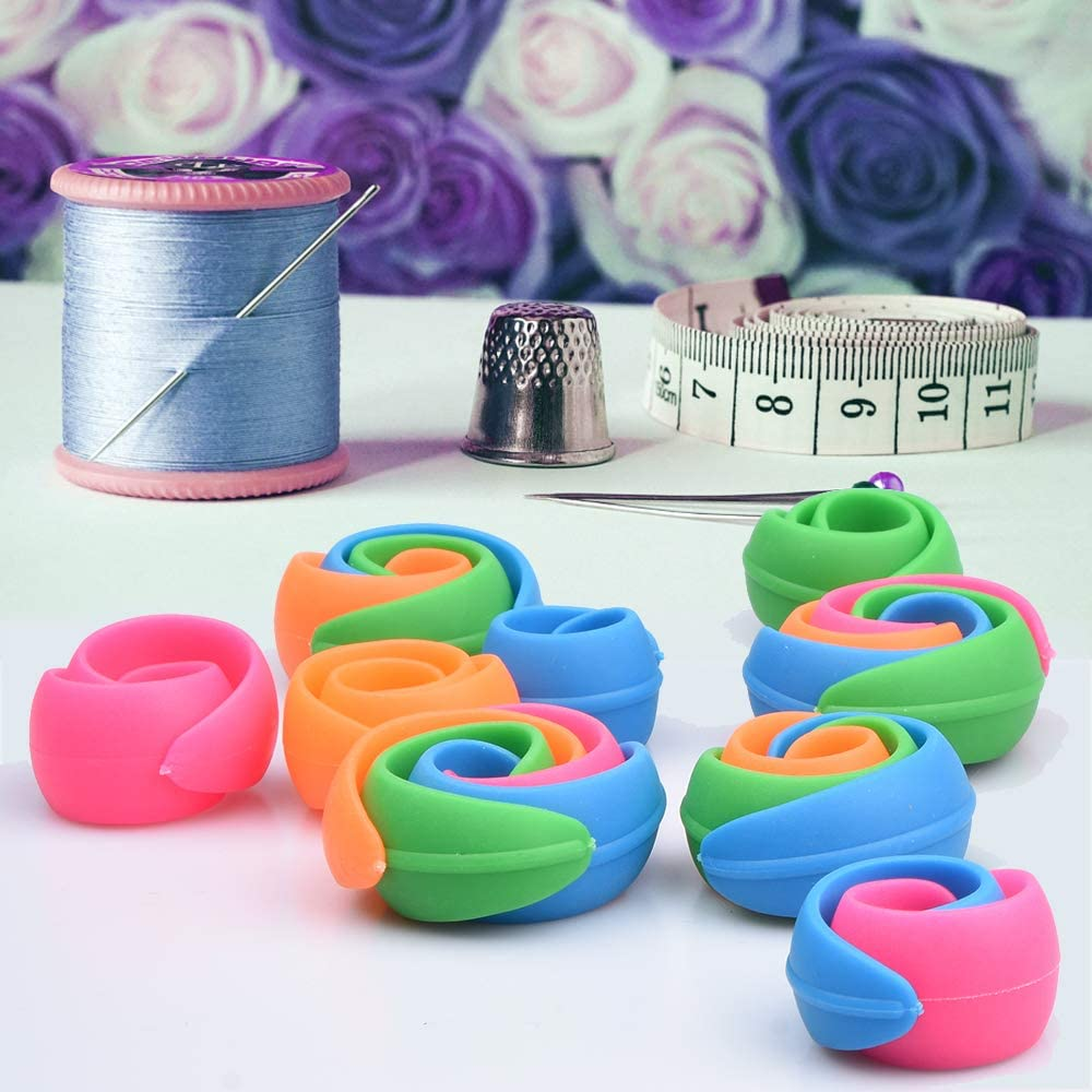 Blau//Gelb//Grün//Lila//Rosa 25 bunte Spulen inkl Spulenbox für W6 Nähmaschinen