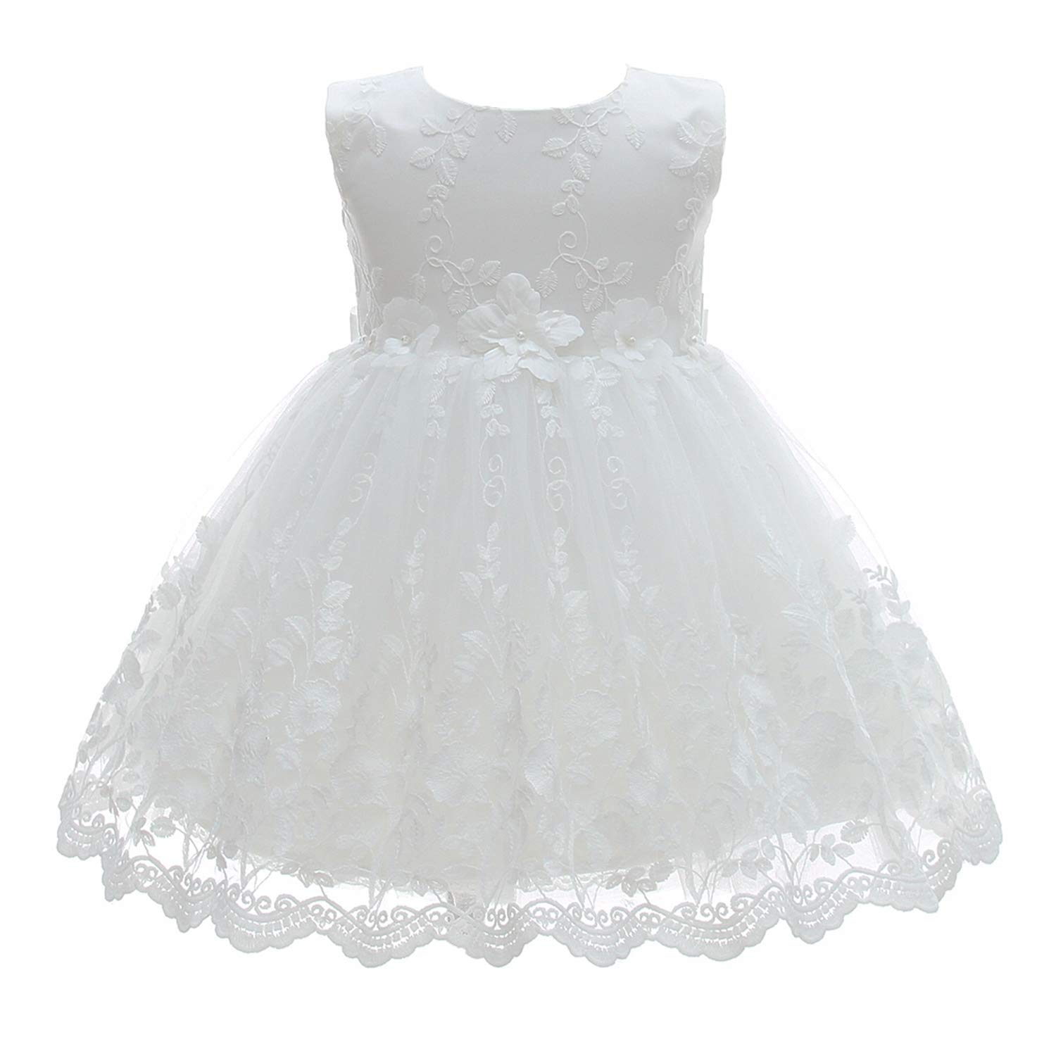Silver Mermaid Baby Girl Christening Dress 2 Piece Floral Lace Christening Gown Baptism Dress Set