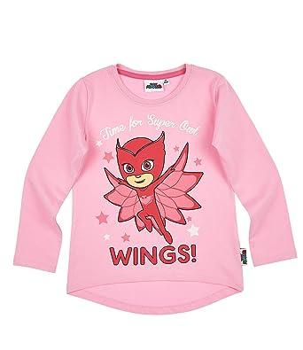 ca606a02 PJ MASKS Girls Long Sleeve T-Shirt - Fuchsia - 8 yrs: Amazon.co.uk: Clothing