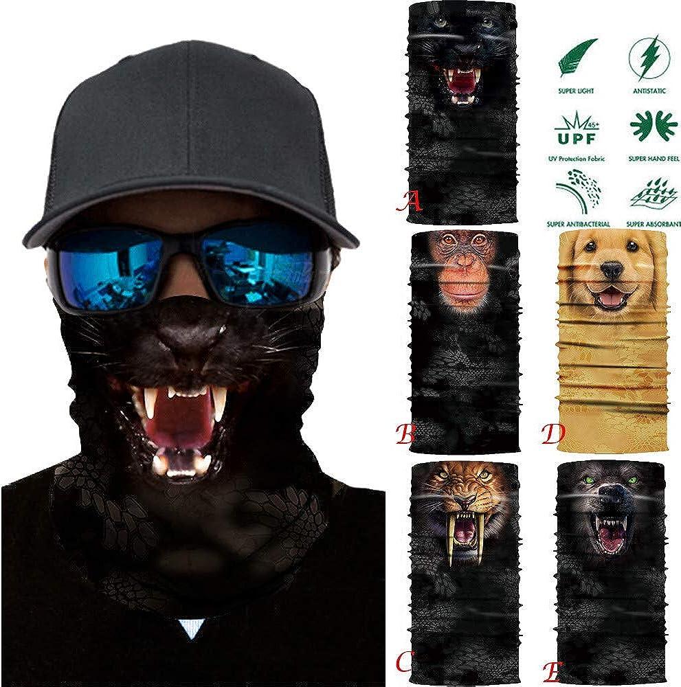 NPRADLA Damen und Herren Multifunktionstuch,Lustig Animalprint Schlauchtuch Halstuch Outdoor Atmungsaktiv Staubschutz Mund-Tuch Schlauchschal