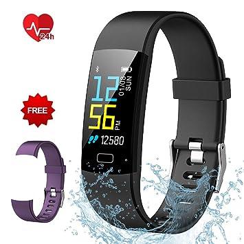 Semaco Pulsera Actividad Inteligente Pantalla Color de Deporte GPS Pulsómetro Monitor de Ritmo Cardíaco Impermeable IP68 Reloj Inteligente Podómetro para ...