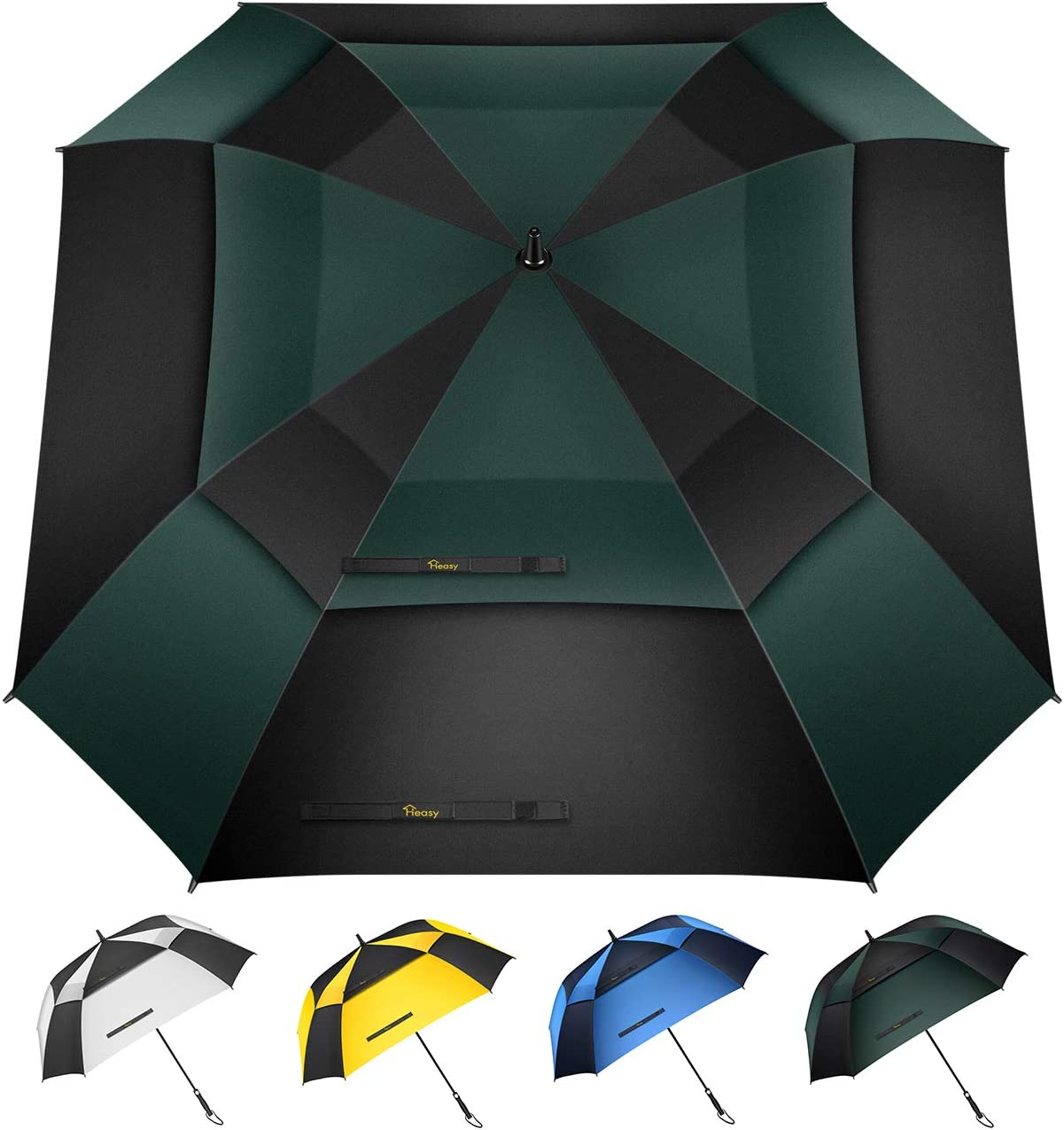 YSCY Portable/Umbrella 8K Long Handle Art Umbrella Elegant and Simple Wood Curved Hook Handle Floral Student Automatic Umbrella Radiation/Protection,UV/Protection,Rust/Prevention,Wind/Protection.