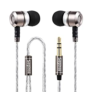 Sephia SP3060 Noise Isolating in-Ear Earphones Headphones, Heavy DEEP BASS for iPhone, iPad, iPod, Samsung Galaxy, MP3 Players, Nokia, HTC, Nexus, BlackBerry