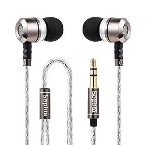 Sephia SP3060 Noise Isolating in-Ear Earphones Headphones, Heavy DEEP BASS for iPhone, iPad, iPod, Samsung Galaxy, MP3 Players, Nokia, HTC, Nexus, BlackBerry
