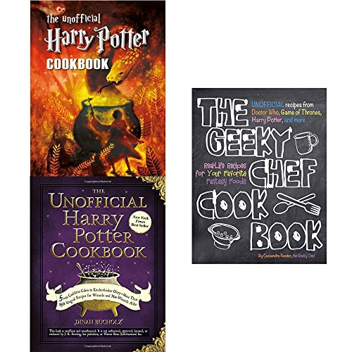 Geeky chef cookbook [flexibound], unofficial harry potter 3 books collection set