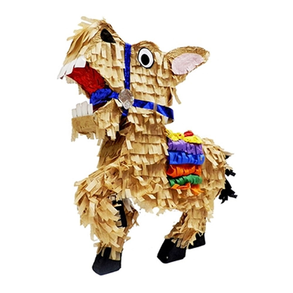 Pinatas Mexican Donkey, Burro Fiesta Party Game and Centerpiece Decoration, 20'' H