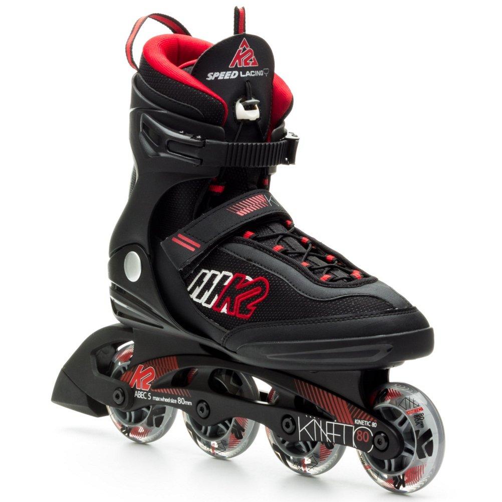 K2 Skate Men's Kinetic 80 Inline Skates, 6
