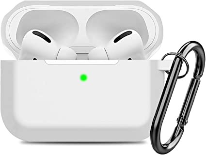 Black Compatible AirPods Pro Case Cover Silicone Protective Case for Apple Airpod Pro 2019 Front LED Visible
