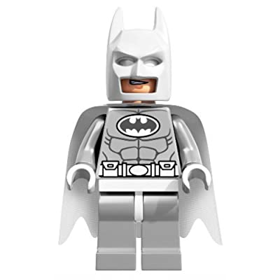 LEGO DC Comics Super Heroes Minifigure - Batman White Arctic Version: Toys & Games