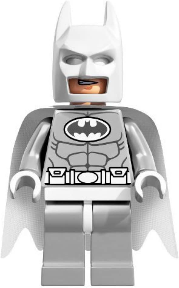 Amazon Com Lego Dc Comics Super Heroes Minifigure Batman White Arctic Version Toys Games