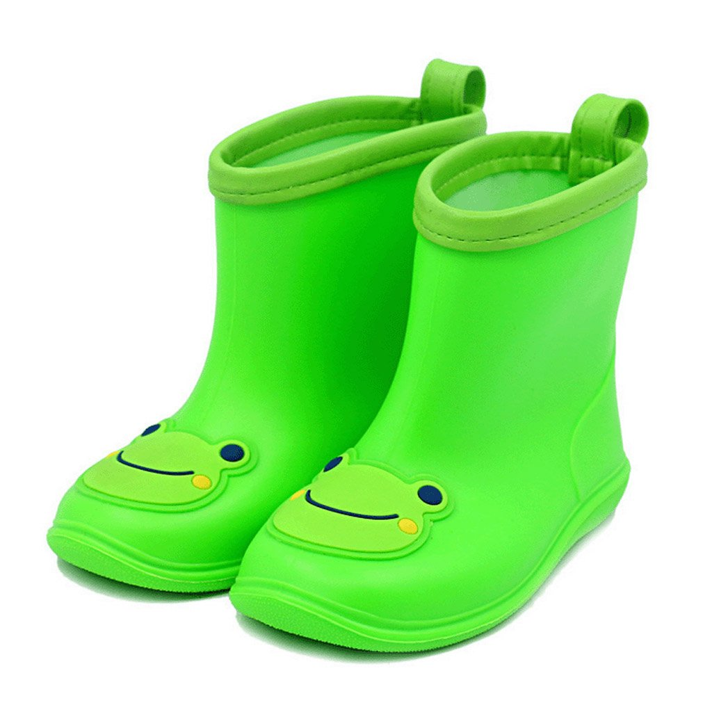 Baby Wellies Wellington Non-slip Rain Boots PVC Rain Shoes for 1-4 Years Old Baiyouli