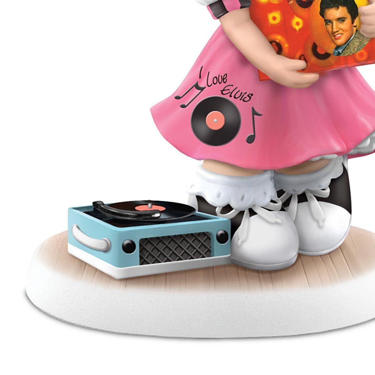 The Hamilton Collection Precious Moments I ll Never Let You Go Elvis Fan Figurine Shows Elvis Album Art