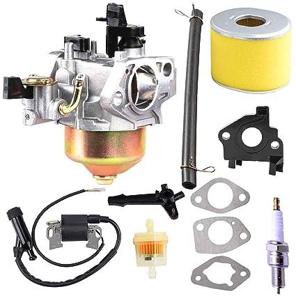 Amazon.com: FYIYI GX390 Carburador + bobina de encendido + ...
