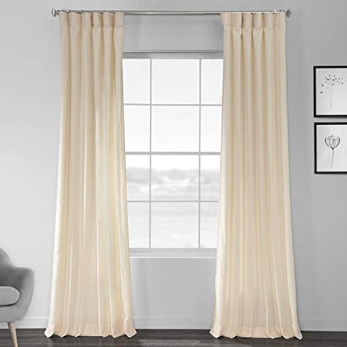 HPD Half Price Drapes SSCS-180745-96 Designer Shantung Faux Silk Curtain 1 Panel