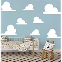 Easu White Clouds Wall Decals Wall Stickers Peel and Stick Removable Wall Stickers Baby Nursery Room Wall Decor