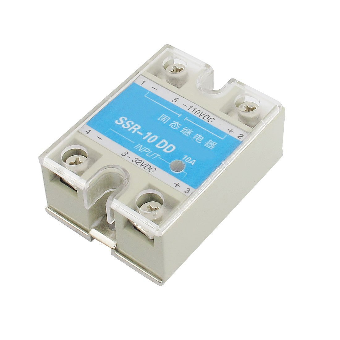 SSR-10DD DC to DC Covered Solid State Module Relay DC 3-32V DC 5-110V SODIAL(R)