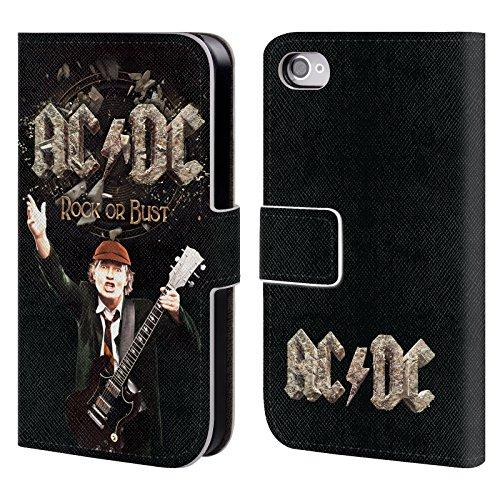 Officiel AC/DC ACDC Évasion De Prison Titres De Chanson Étui Coque De Livre En Cuir Pour Apple iPhone 4 / 4S