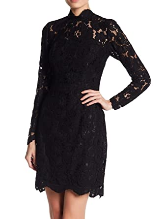 4607b081847e3 Amazon.com: Betsey Johnson Womens Illusion Lace Sheath Dress Blacks:  Clothing