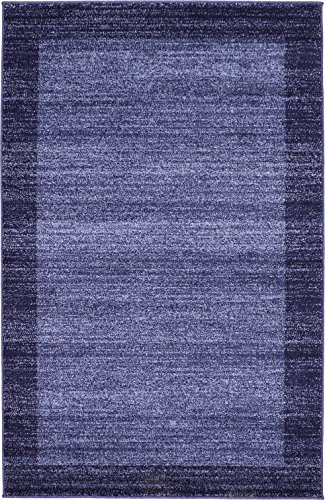 Over-dyed Modern Vintage Rugs Navy Blue 3' 3 x 5' 3 FT Palma Collection Area Rug - Perfect for any Place - Navy Blue Floor