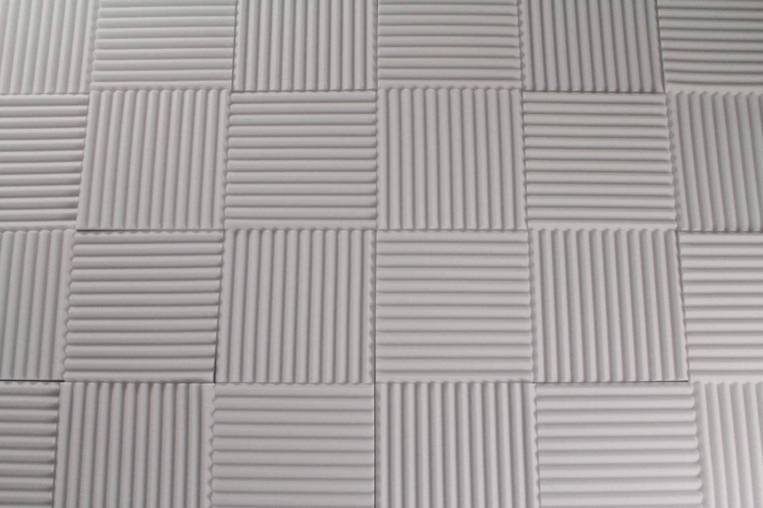 White Acoustic Foam Panels - Wedge Style Studio Foam Soundproofing Tiles - 12x12 Inch - Multiple Thicknesses (1 Inch Thick - 6 Pack)