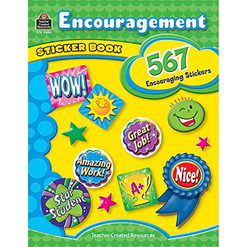 Teacher Created Resources TCR4434BN Encouragement Sticker Book, 567 Stickers Per Book, 2 Books