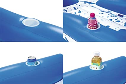 Amazon.com : DMGF Giant Inflatable Pool Float Lounger Rapid Valves ...