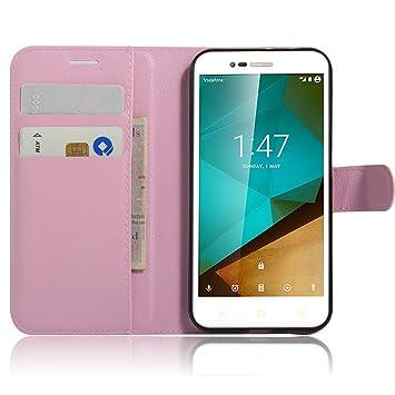 JARNING Compatible con Vodafone Smart Prime 7/ Style 7 /VFD600 Fundas de PU Cuero Flip Carcasa Funda con Ranura de Tarjeta Cierre Magnético Kikstand ...