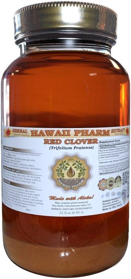 Red Clover Liquid Extract, Organic Red Clover Trifolium Pratense Tincture 32 oz