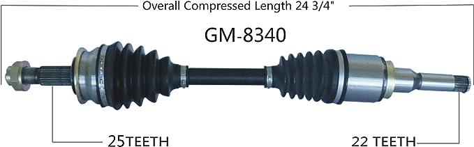 SurTrack Pair Set of 2 Front CV Axle Shafts For Chevrolet Sonic 1.8l 4L Auto