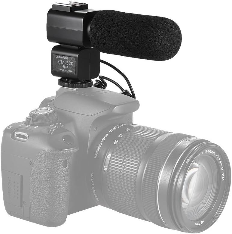 Andoer Cm 520 Kamera Mikrofon Super Cardioid Elektret Kamera