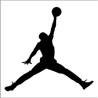 greatman Air Jordan Nike Jumpman Logo Vinyl Sticker Decal-Black-6 Inch: Home & Kitchen