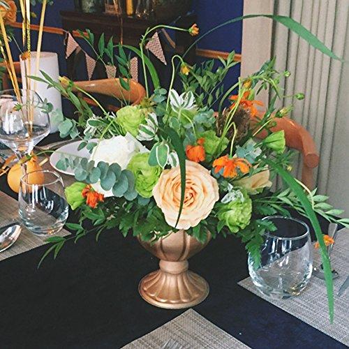 Awsomes Gold Urn Planter Flower Pot Shiny Outdoor Matte Utopian Classic Urn Planter (4.8