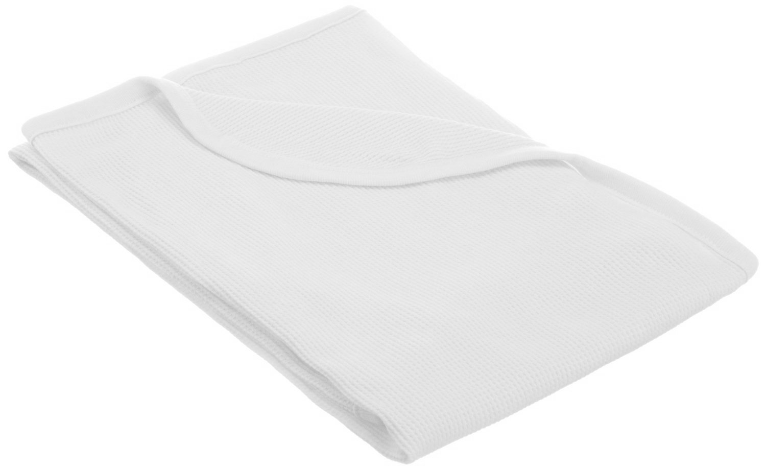 TL Care 100% Natural Cotton Swaddle/Thermal Blanket, White, Soft Breathable, for Boys and Girls