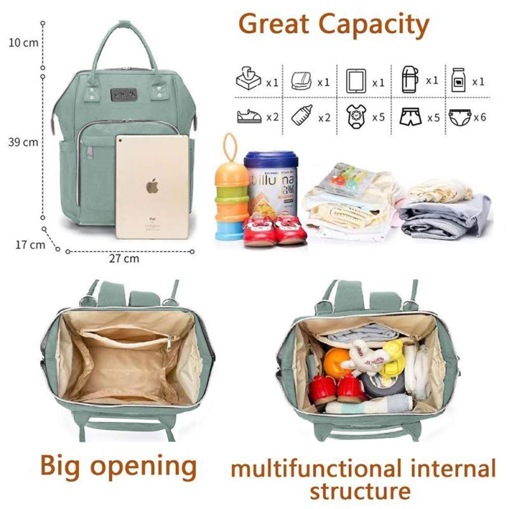 Waterproof Maternity Bags with 1 Pcs Diaper Changing Pad and 2 Stroller Straps Viedouce Baby Diaper Bag Nappy Backpack Large Capacity for Mom and Dad Pink Baby Changing Bag