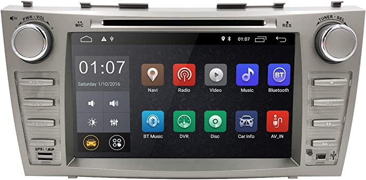 hizpo 8 Inch Android 9.0 Car Navigation Double Din Car Stereo Radio for Toyota Camry 2007 2008 2009 2010 2011 Toyota Aurion 2006 2007 2008 2009 2010 2011 Bluetooth WiFi RDS Steering Wheel Control
