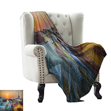 Amazon.com: LsWOW Blanket Basket Sunset,View Over The ...