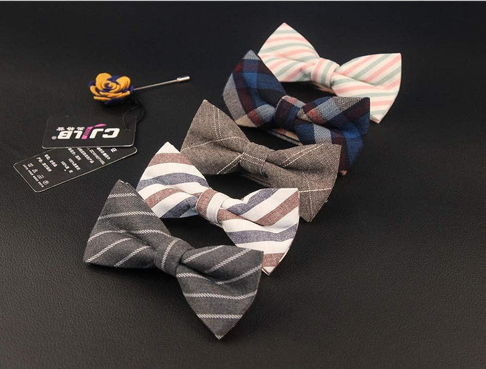 Mens Creative Banquet Fashion Bow Ties Diagonal Stripes F