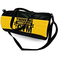 CODi Gym Duffle Bag with Inspirational Quotes Vegan Leather and Canvas Strong Bag Size 23 cm x 23 cm x 46 cm