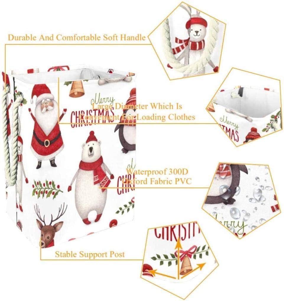 QYSZYG Noël Elements Panier à Linge vêtements Sales étanche Panier à Linge Panier à Linge Pliable, Multi02 Panier de Rangement (Color : Multi04) Multi10