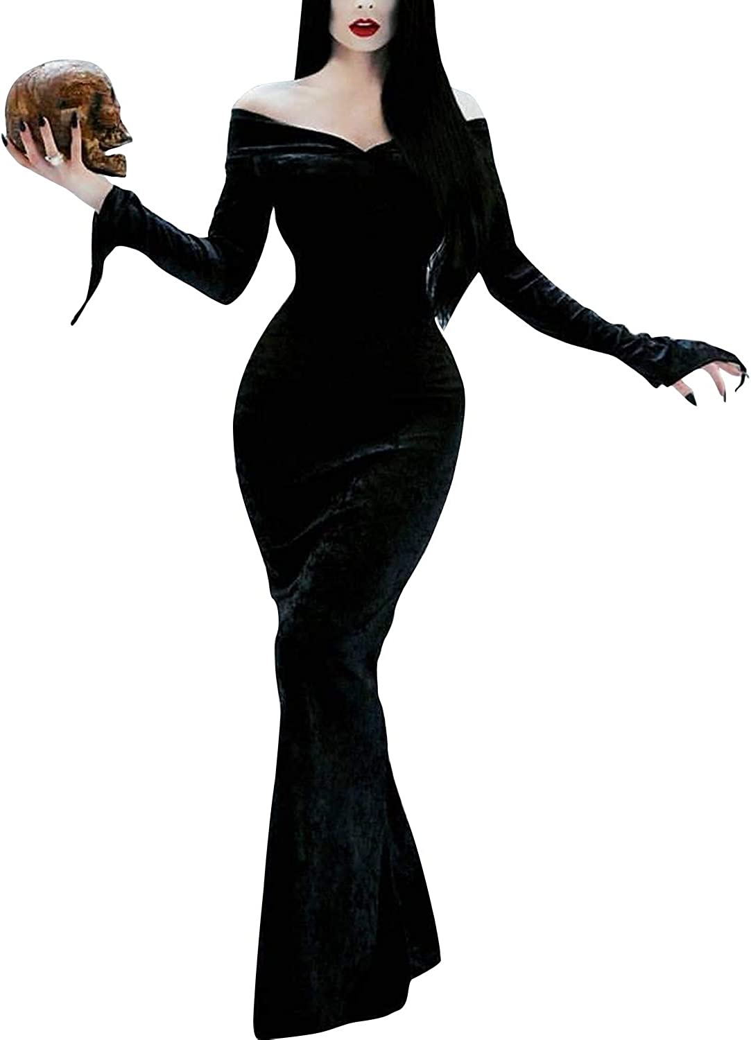ICEYOU Halloween Costume Addams Family Wednesday Dress Pugsley Costume Off Shoulder Party Dresses