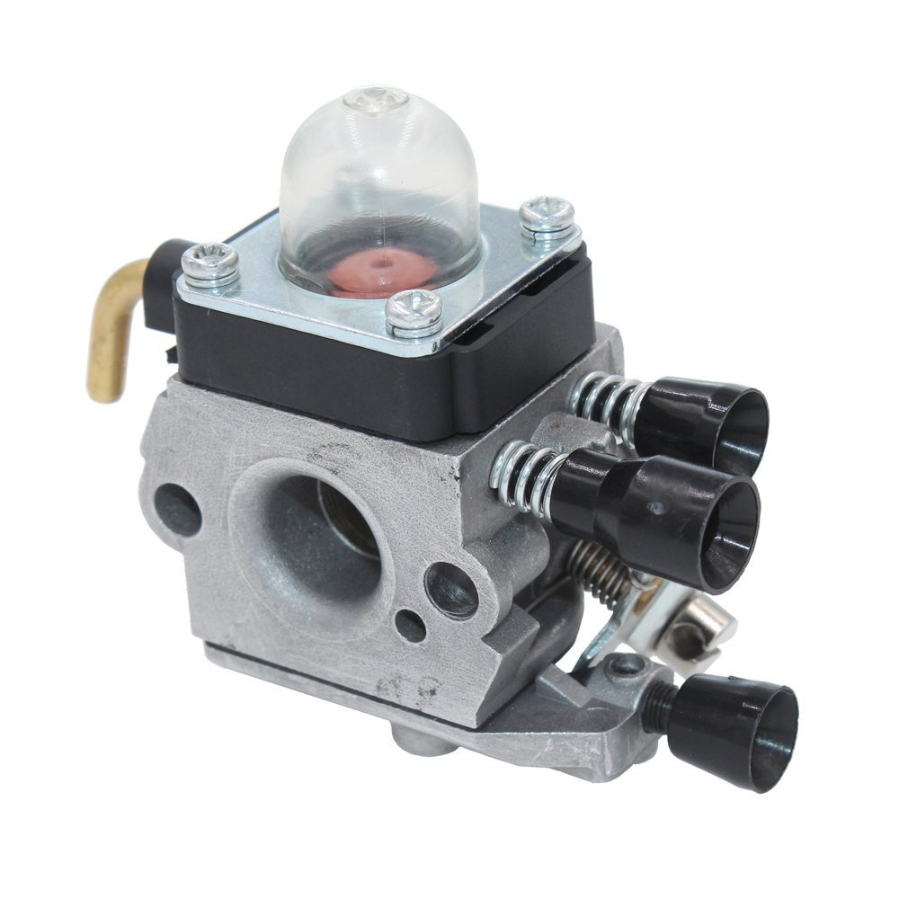 HUZTL C1Q-S97 Carburetor for STIHL FS38 FS45 FS46 FS55 KM55 HL45 FS45L FS45C FS46C FS55C FS55R FS55RC FS85 FS80R FS85R FS85T FS85RX String Trimmer Weed Eater with Air Filter Fuel Line Kit by by HUZTL (Image #4)