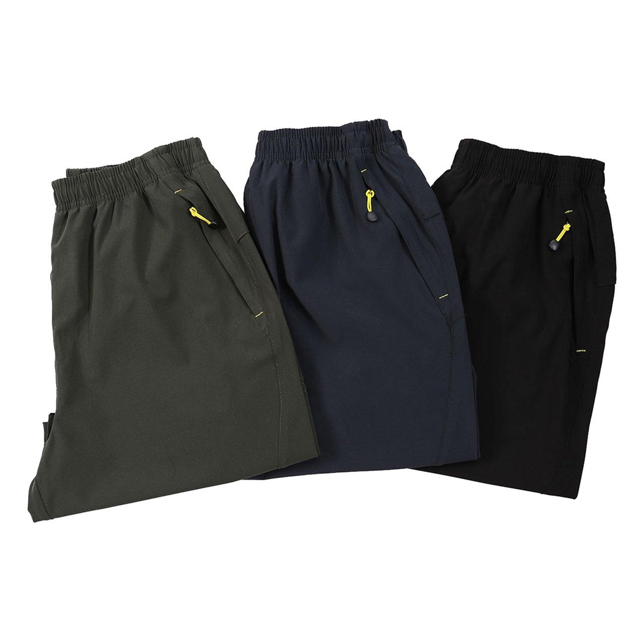 Mesitelin Men Outdoor Sport Zipper Pocket Short Casual Running Short PP185
