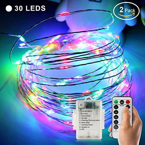 2 Pack Waterproof LED Soft String Lights Dimmab...