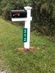 Custom Reflective Green 911 Address Aluminum Sign