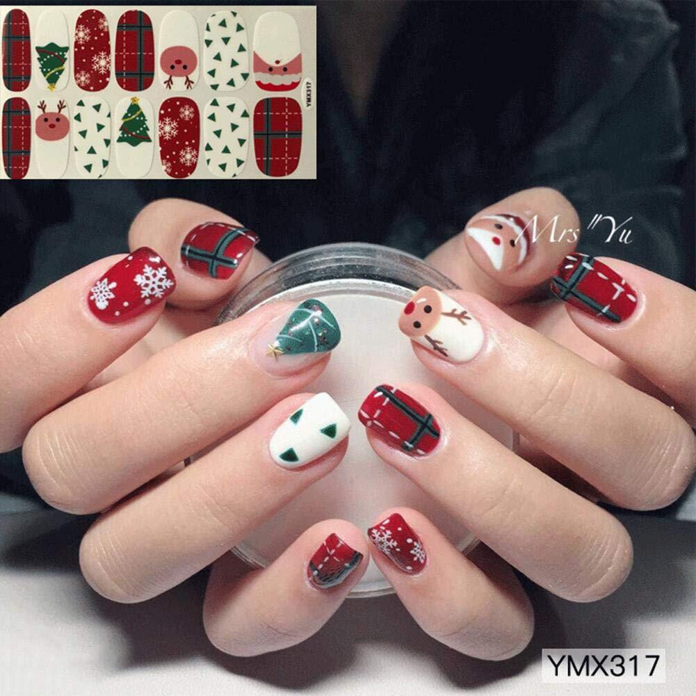 Reputedc Adesivi per unghie, adesivi per unghie Adesivi per unghie fai da te, gioielli per unghie di Natale -14 adesivi